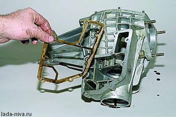 замена прокладки переднего редуктора
