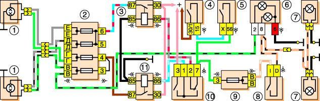 Электросхема световых приборов