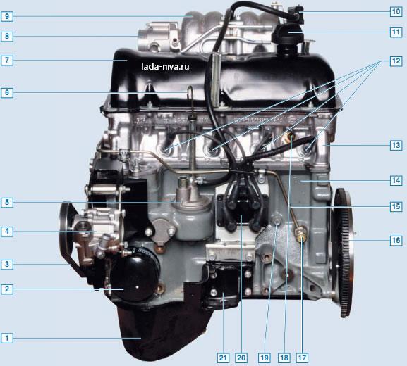 двигатель - вид слева