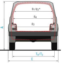 размеры проёма багажника