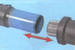 разъёдинице шлицы для нанесения смазки усиленного кардана