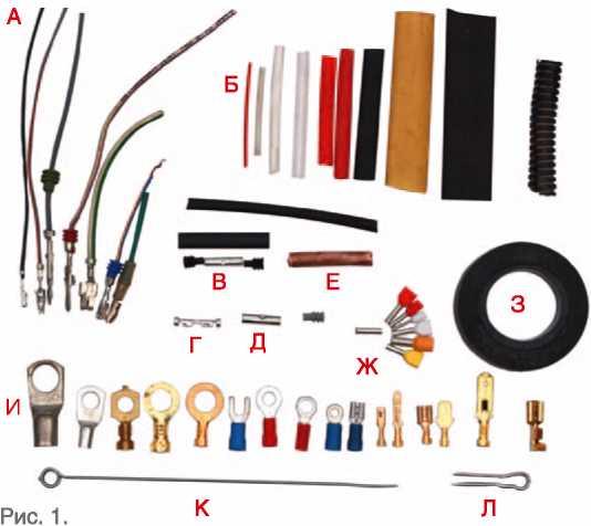 клеммы, провода и соединители для автопроводки